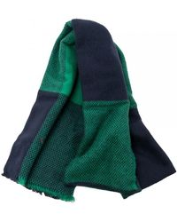 Joules Basket Weave Scarf A/w - Green