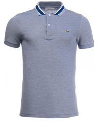 bb3ad08371 Lacoste Stripe Collar Polo T Shirt White in White for Men - Lyst