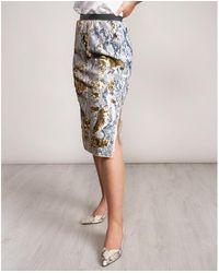 Ted Baker Snake Skin Sequin Skirt - Grey