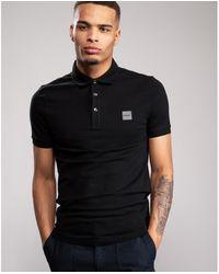 BOSS by HUGO BOSS Passenger 1 Logo Slim Fit Polo Shirt - Black