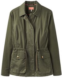 Joules Corinne Womens Lightweight Casual Jacket S/s - Green