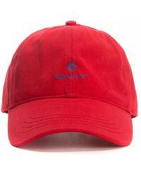 GANT Contrast Twill Cap - Red