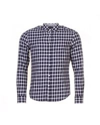 Woolrich Flannel Button Down Mens Shirt - Blue