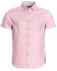 Ted Baker Ss Oxford Shirt - Pink