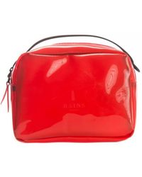 Rains Transparent Box Bag - Red