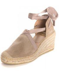 Kanna Ania Cortina Wedged Tie Sandals - Natural