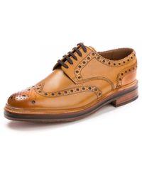 Grenson - Archie Brogue Tan Mens Shoe - Lyst