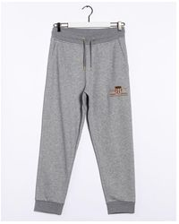 GANT D1. Archive Shield Sweat Trousers - Grey