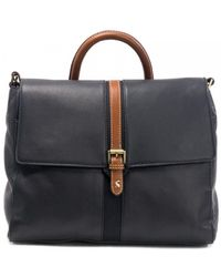 Joules Carriage Leather Tote Bag A/w - Blue