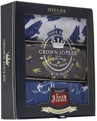 Joules Crown Mens 3 Pack Underwear S/s - Blue