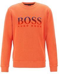 BOSS Orange Mens Wayman Crew Neck Sweatshirt with Bhb Logo