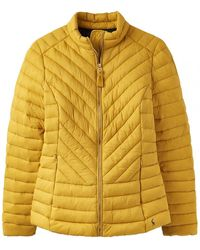Joules Elodie Chevron Quilted Jacket S/s - Metallic