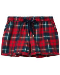 Joules Tali Womens Woven Pyjama Shorts A/w - Red