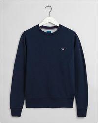 GANT Original C-neck Sweatshirt - Blue