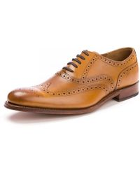 Grenson Dylan Calf Tan Mens Brogue - Brown
