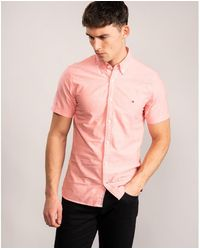 Tommy Hilfiger Slim Organic Oxford - Pink