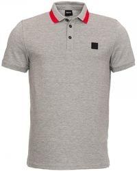 BOSS Pase Polo Shirt - Gray