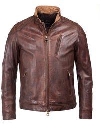 Barbour James Mens Leather Jacket - Brown