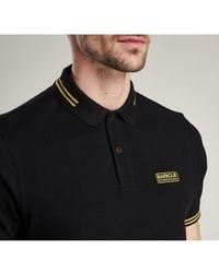 Barbour Ess Tipped Polo Shirt - Black