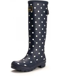Joules Wellyprint Printed Welly - Blue