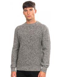 Calvin Klein Mouline Texture Jumper - Grey