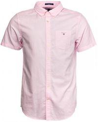 GANT The Oxford Shirt Reg Ss Bd Shirt - Pink