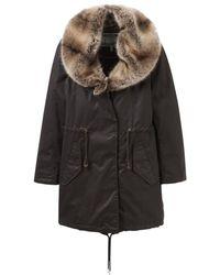 Joules Swanson Fur Collar Longline Parka (v) - Black