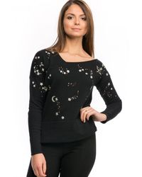 French Connection Zodiac Knits Ls Jumper - Black