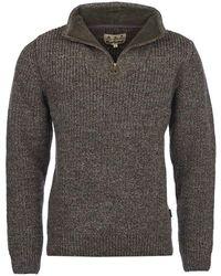 Barbour New Tyne Half Zip Sweater - Grey