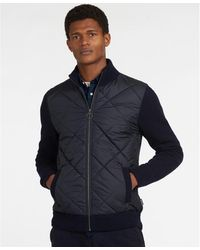 Barbour - Arch Diamond Quilt Knitted Crew Neck Jumper - Lyst