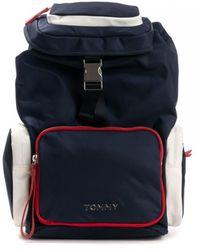 Tommy Hilfiger Th Nylon Backpack - Blue