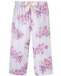 Joules Felicity Womens 3/4 Length Pj Bottoms S/s - Blue
