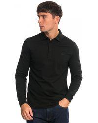 Lacoste Long Sleeve Polo - Black
