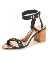 Ted Baker Studded Bow Detail Sandal - Black