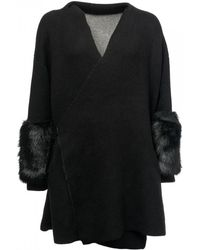 French Connection - Eline Faux Fur Knits Womens Cardigan - Lyst