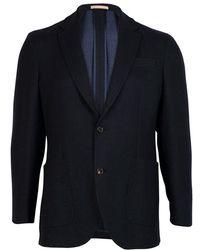 Bladen Litcham Decon Tweed Mens Jacket - Blue