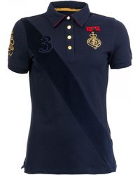 f0c3917fbd206f Joules Claredon Womens Polo Shirt S/s in Blue - Lyst