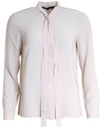 French Connection - Pippa Plains Tie Neck Ladies Shirt - Lyst