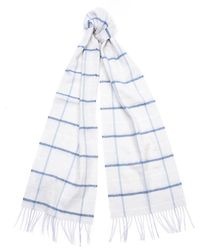 Barbour Country Tattersall Scarf - Blue