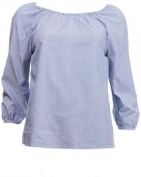 GANT Preppy Striped Blouse S/s - Blue