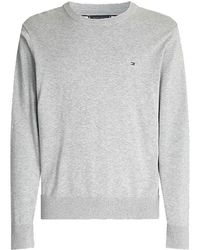 Tommy Hilfiger Organic Cotton Blend Jumper - Grey
