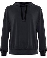 French Connection Washed Cupro Jersey Hoodie - Black