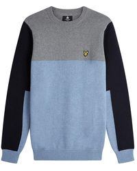 Lyle & Scott Colourblock Crew - Blue