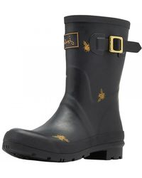 Joules - Mid Molly Bee Wellington Boots - Lyst