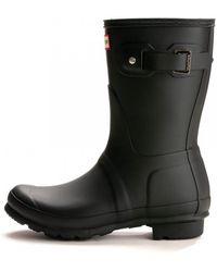 HUNTER Original Short Ladies Wellington Boots - Black