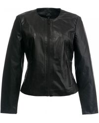 Armani Exchange Armani Leather Jacket - Black