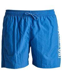 Barbour Large Logo Swim Shorts - Blue
