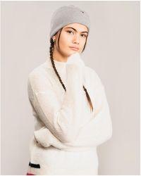 Tommy Hilfiger Essential Fine Knit Cotton Cashmere Beanie - Grey