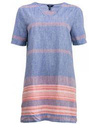 GANT - Striped Chambray Womens Tunic S/s - Lyst