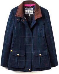 Joules Fieldcoat Tweed Ladies Jacket (v) - Blue